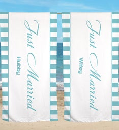 Personalized Wedding Get Away Beach Towel