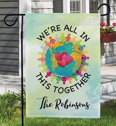 Personalized In This World Together Flag