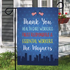 Custom Thank You First Responders Garden Flag