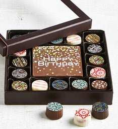 Simply Chocolate Birthday Bar & Truffles 17pc