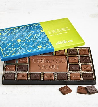 Simply Chocolate Thank You Personalized  Box