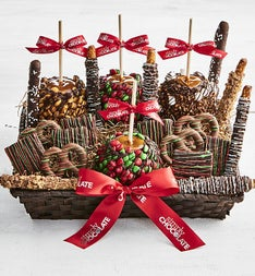 Simply Chocolate Deluxe Christmas Cravings Basket