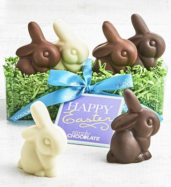 Simply Chocolate Easter Bunny Quartet