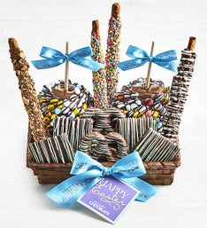 Simply Chocolate Happy Easter Snack Basket