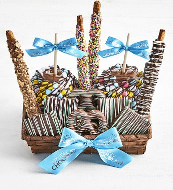 Simply Chocolate Sumptuous Spring Snack Basket