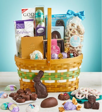 Simply Chocolate Premier Easter Basket with Godiva