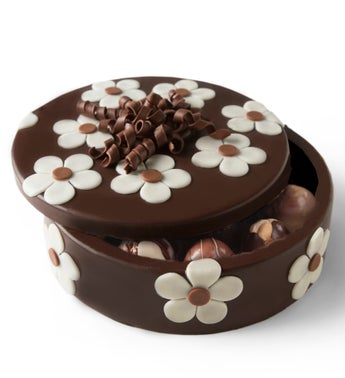 Chocolate Flower Box with Truffles