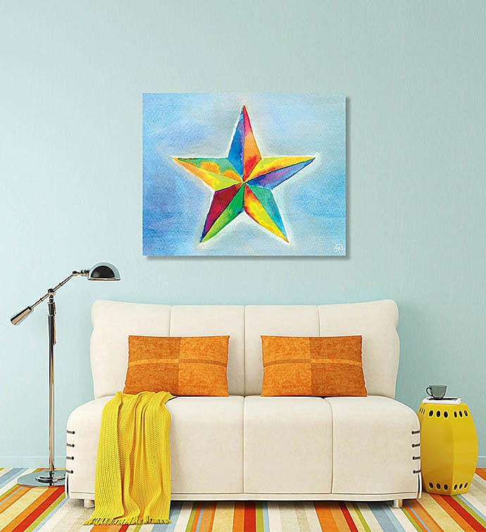 Watercolor Lone Star