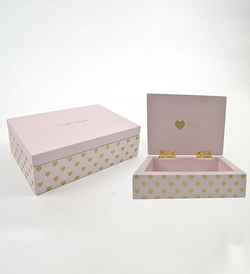 Pink & Gold Hearts Secret Box