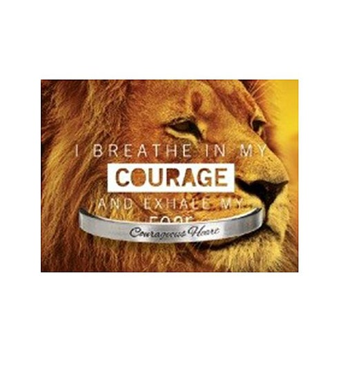 Quotable Cuff - I Breathe In My Courage