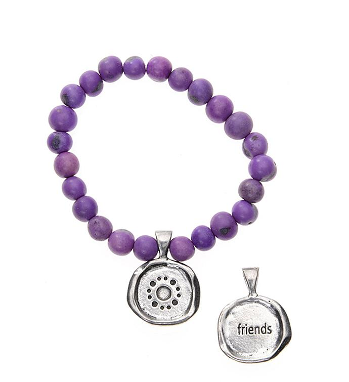 Seeds Of Life Wax Seal Bracelet - Friends