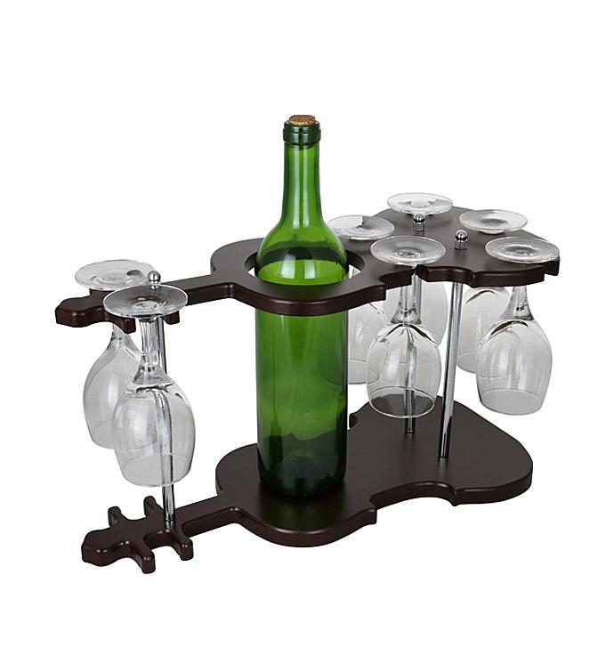 Guitar Wine Bottle  Glass Holder