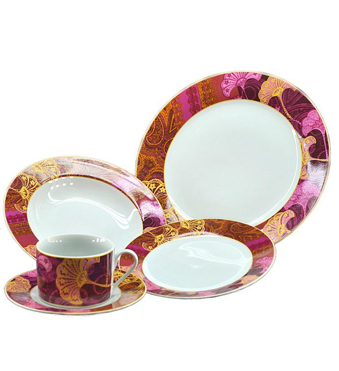 Pink Stars Dinnerware Set