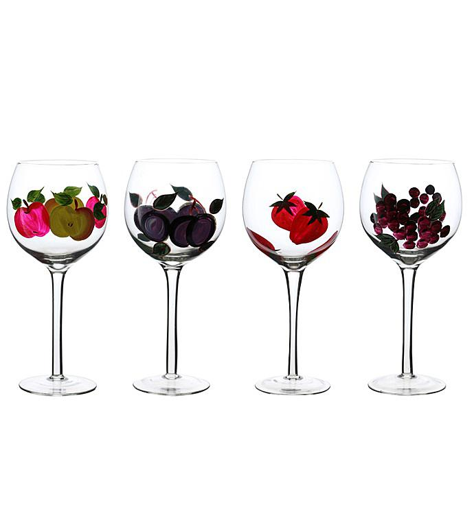 Fruit Design Wine Glass Set