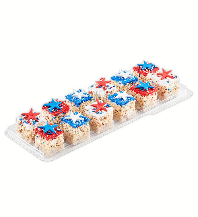 Patriotic Stars Gourmet Rice Krispie Treats