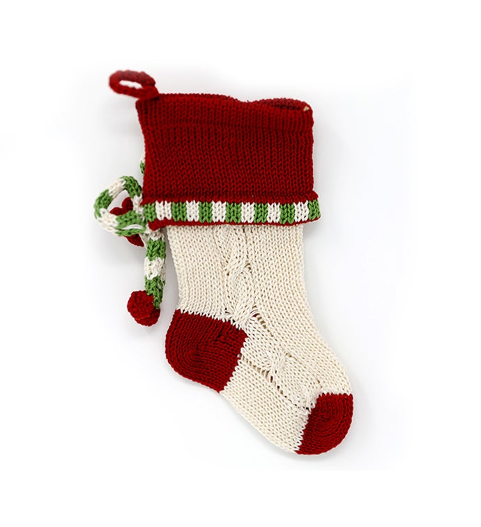 Mini Cable Bow Stocking