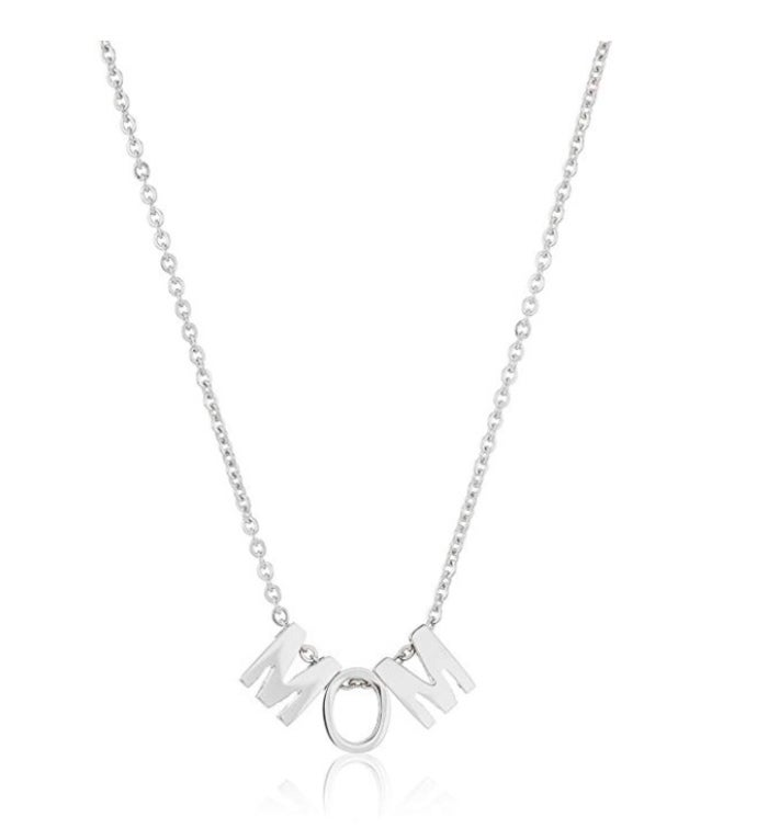 High Polished Stainless Steel 18k Gold Mom Necklace