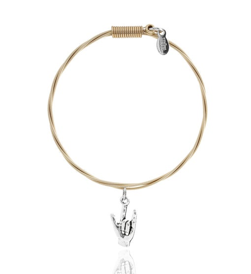 """Rock & Roll All Nite"" - Guitar String Bracelet"