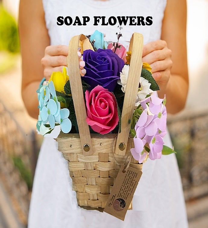 Spring Picnic Basket - Soap Flowers