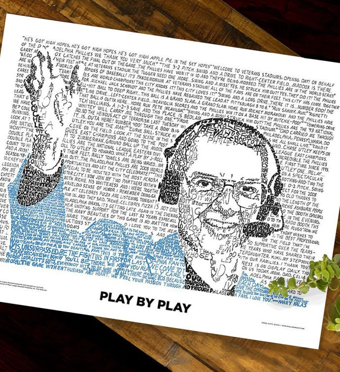 Harry Kalas Word Art