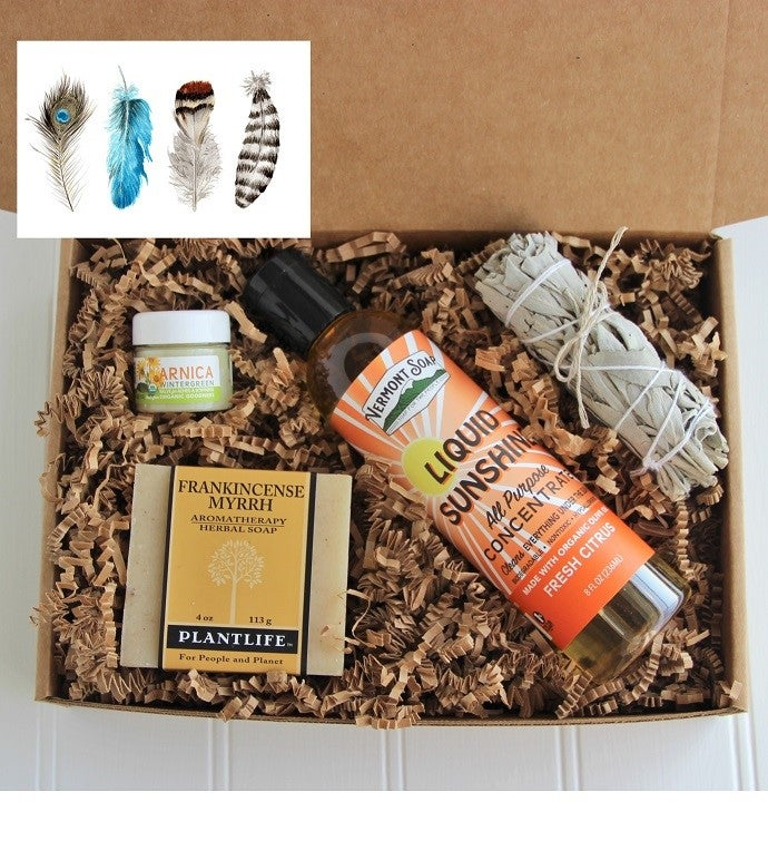 Good Vibes Men39s Gift Box- Feathers Card