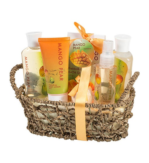 Mango Pear Bath and Body Gift Set Basket
