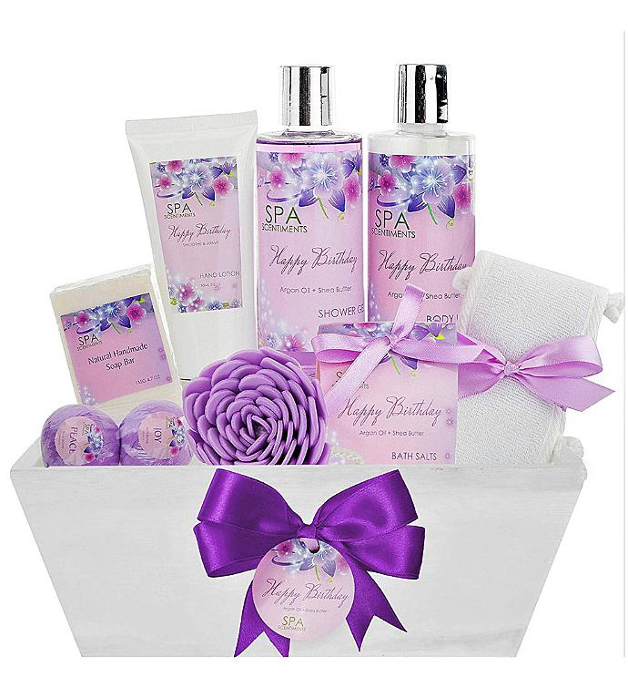 Birthday Gift Basket Spa Kit - Spa Basket Bath  Body