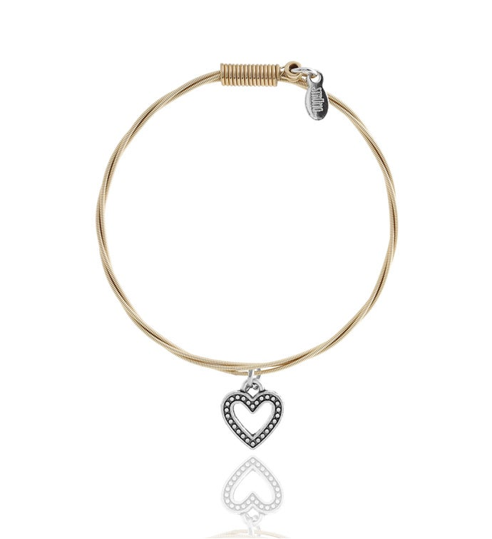 Strung Guitar String Bracelet - Heart Whole Lotta Love