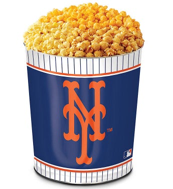New York Mets 3-Flavor Popcorn Tins