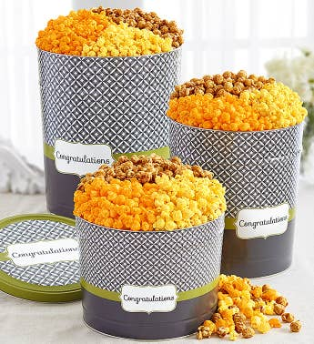 Simply Stated Congratulations Popcorn Tins
