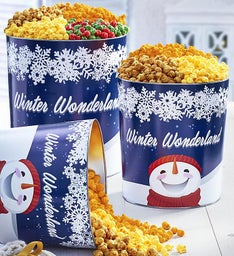 Winter Wonderland Popcorn Tins