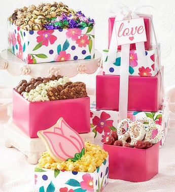 Floral Delight 4-Tier Tower