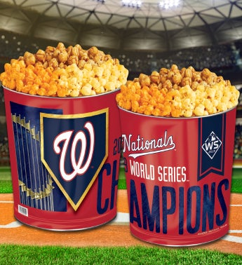 Washington Nationals 2019 World Series Champions Commemorative Popcorn Tin