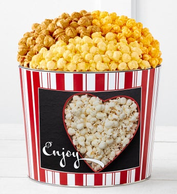 Tins With Pop Enjoy Popcorn