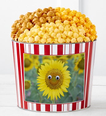 Tins With Pop Happy Sunflower