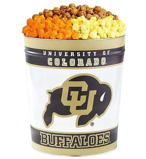 3 Gallon University of Colorado 3-Flavor Popcorn Tins