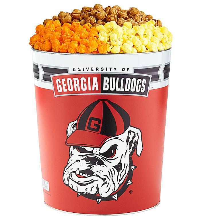 3 Gallon University of Georgia 3-Flavor Popcorn Tins